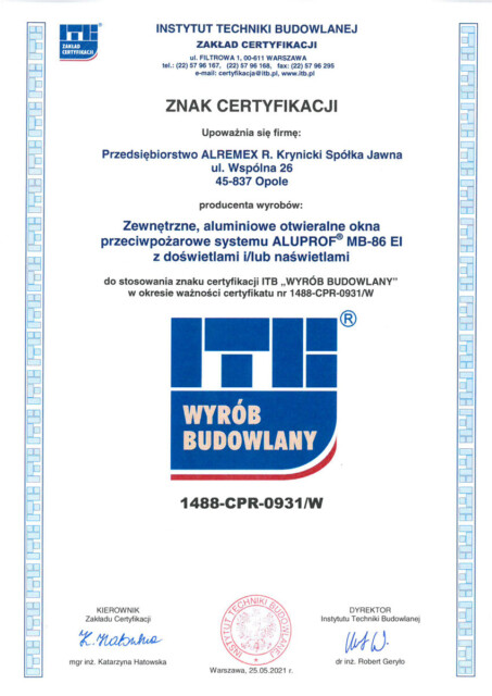 Znak certyfikacji MB-86EI